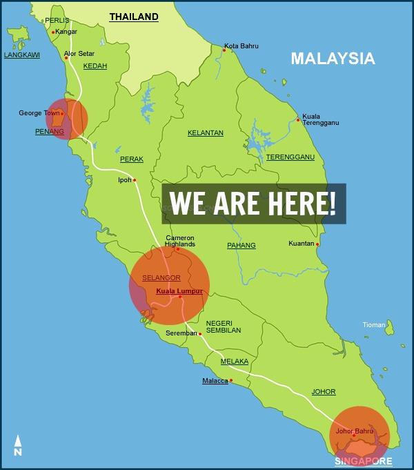 Kuala Lumpur Malaysia Map: Rental Services In KL, Selangor, Penang, Johor