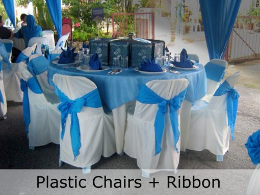 Plastic-Chair-Blue-Ribbon-TentHouz-Malaysia
